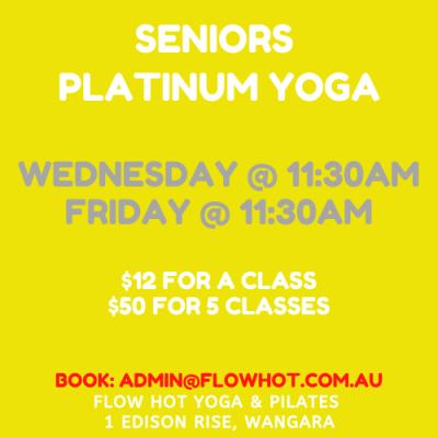 seniors flow hot yoga